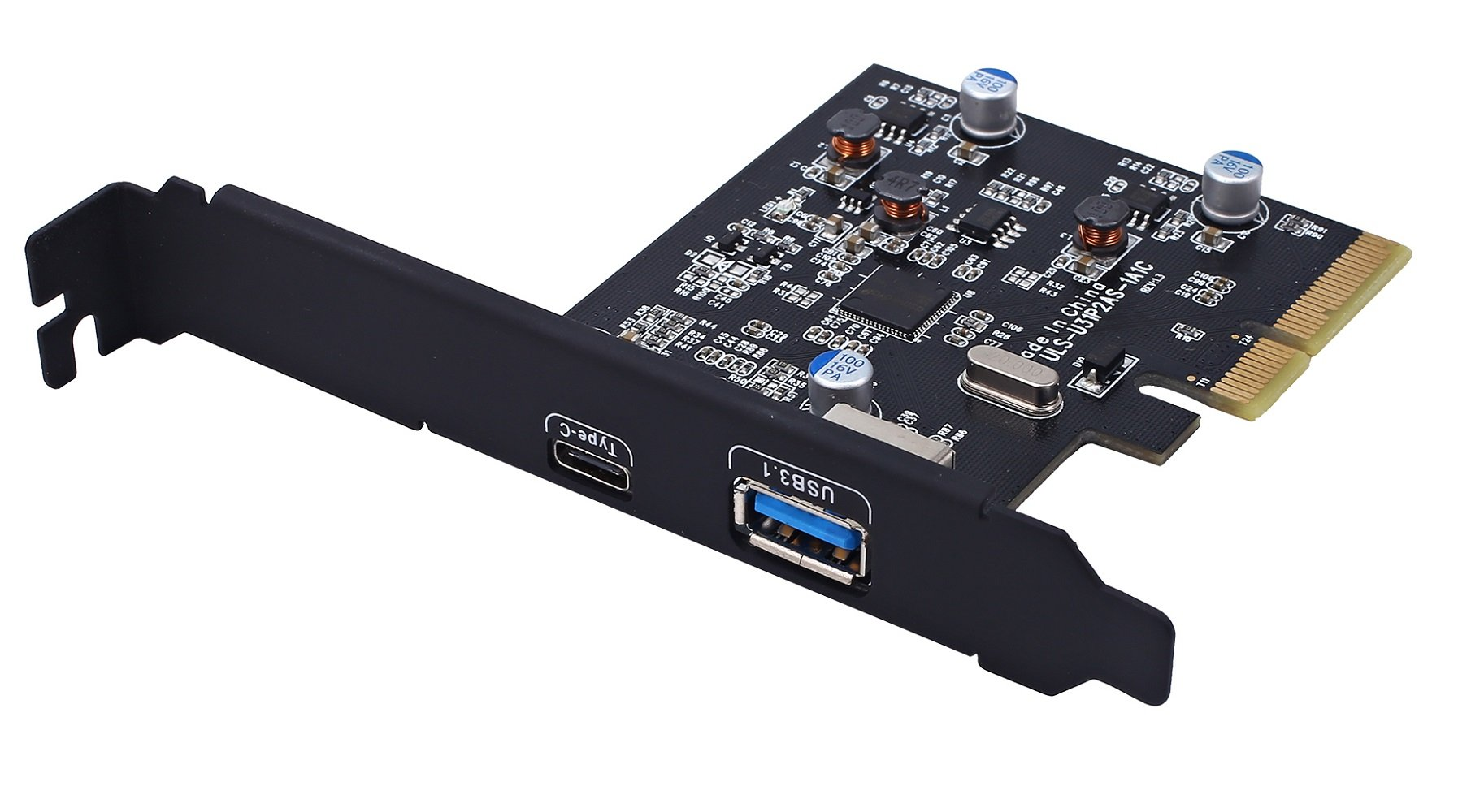TOTOVIN PCI-E PCI Express to USB 3.1 Gen 2 (10 Gbps) Type A+Type C Expansion Card Asmedia Chipset for Windows 7/8/8.1/10/Linux Kernel (Type A+Type C) by TOTOVIN (Image #1)