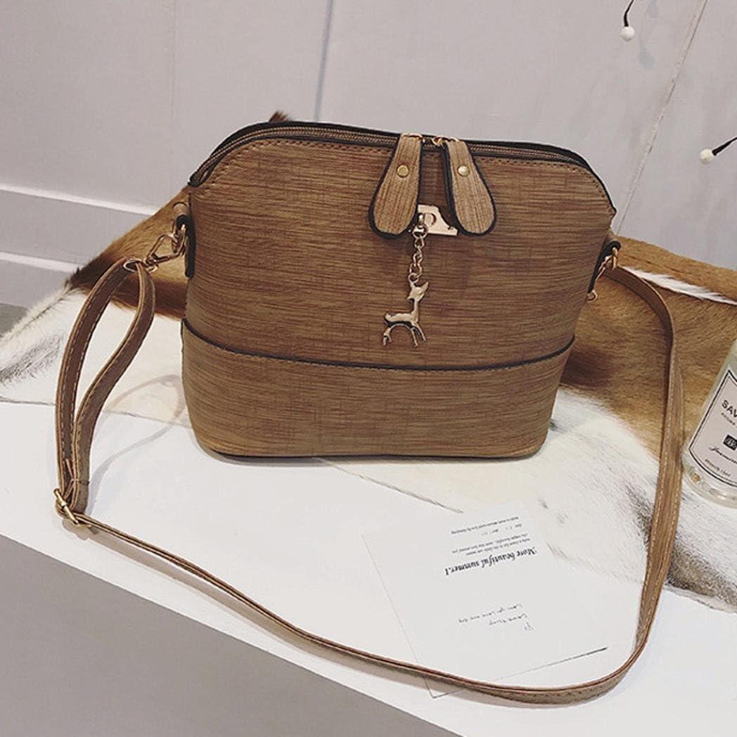Familizo Women Messenger Bags Vintage Small Shell Leather Handbag Casual Packet Summer Fashion Top Handle Shoulder Bag Satchel Stylish Tote Travel Beach Bags