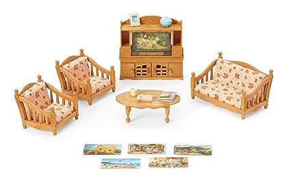 Calico Critters Living Room.Amazon Com Calico Critters Comfy Living Room Set Toys