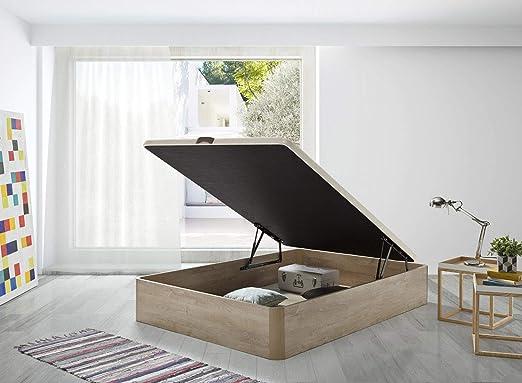 SERMAHOME- Canapé Modelo Teja Color Cambrian con Base tapizada 3D Color Beige. Altura del cajón: 32 cm. Medida 135 x 190 cm.: Amazon.es: Hogar