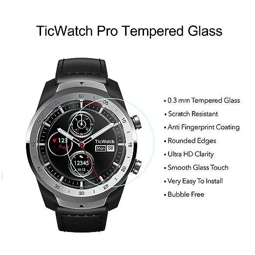 BECEMURU Ticwatch Pro - Protector de Pantalla para Ticwatch Pro ...