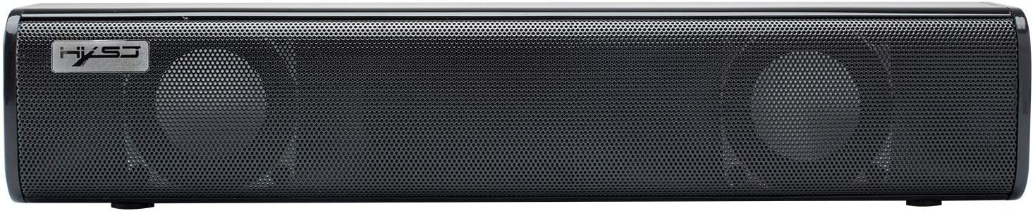 Hidden Audio Desktop Computer Home Wired Strip Mini Notebook Desktop Small Speaker Subwoofer Black