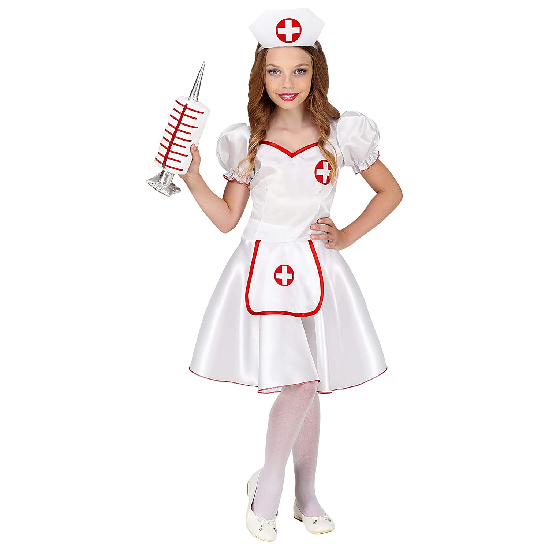 97fce4a3fb46b Widman Nurse - Childrens Fancy Dress Costume - Toddler - 105cm to 116cm -  4-5 Years: Amazon.co.uk: Toys & Games