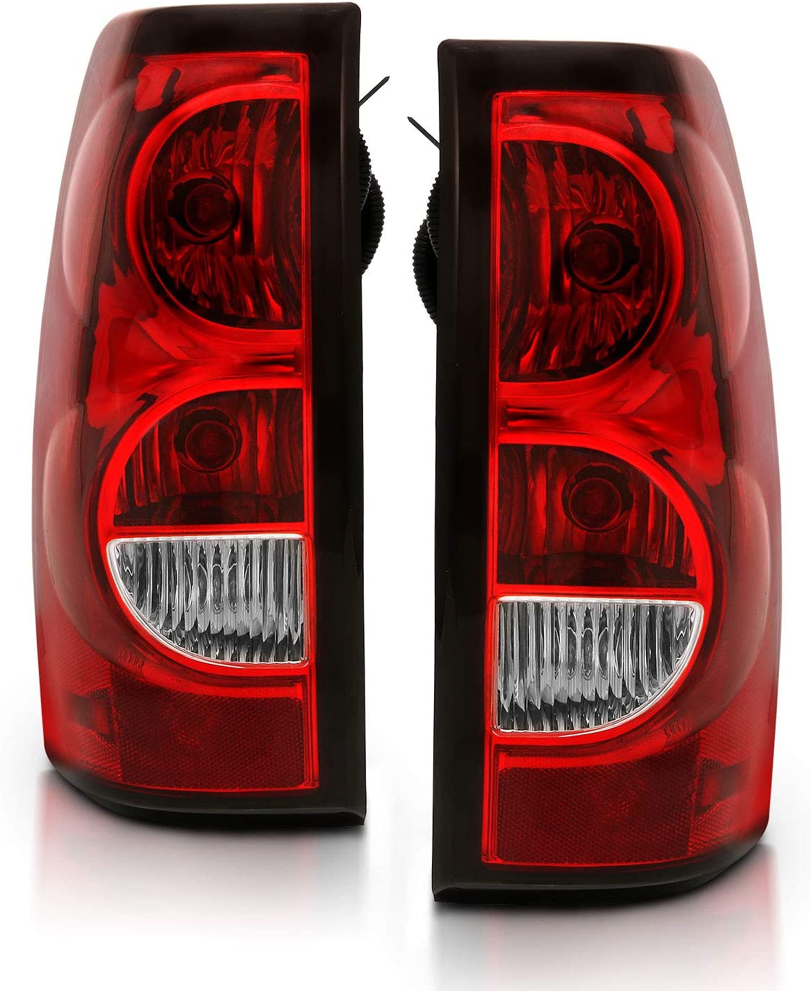 1500 2500 3500 Left /& Right Sides Pair Classic Epic Lighting OE Style Replacement Rear Brake Tail Lights for 2004-2007 Chevrolet Silverado GM2800174 GM2801174 15273473 15844157 15273472 15844156