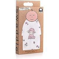 Caline Baby Müslin Bezi Örtü Kuzu Desen - Pembe - 120x120 cm [4 Adet Ağız Mendili HEDİYE!!]