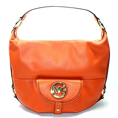 6816ebdeda57b6 Michael Kors Fulton Genuine Leather Large Shoulder Bag Tangerine (Orange)  #38S1CFTL3L: Handbags: Amazon.com