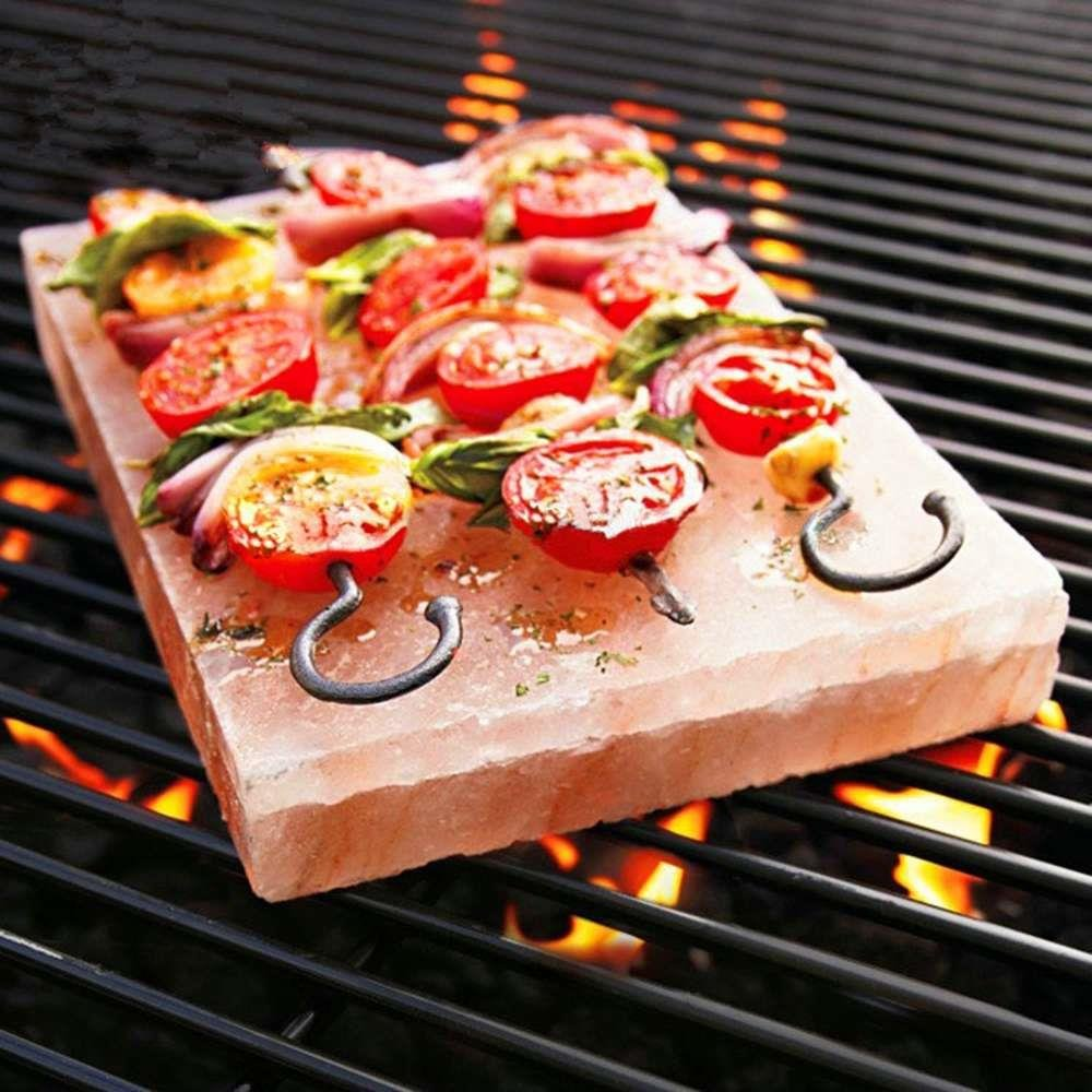Tker Himalayan Natural Salt cooking Blocks Crystal Plate for BBQ grilling, Organic and Pure Rose Brick (8\