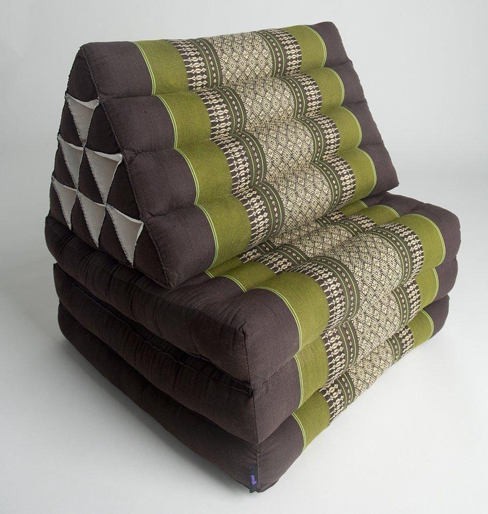Foldout Triangle Thai Mattress Cushion, Kapok Fabric Premium Double Stitched by Thailand
