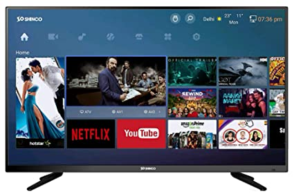 a6659311fa9 Image Unavailable. Image not available for. Colour  Shinco 102 cm (40  Inches) Full HD Smart LED TV ...