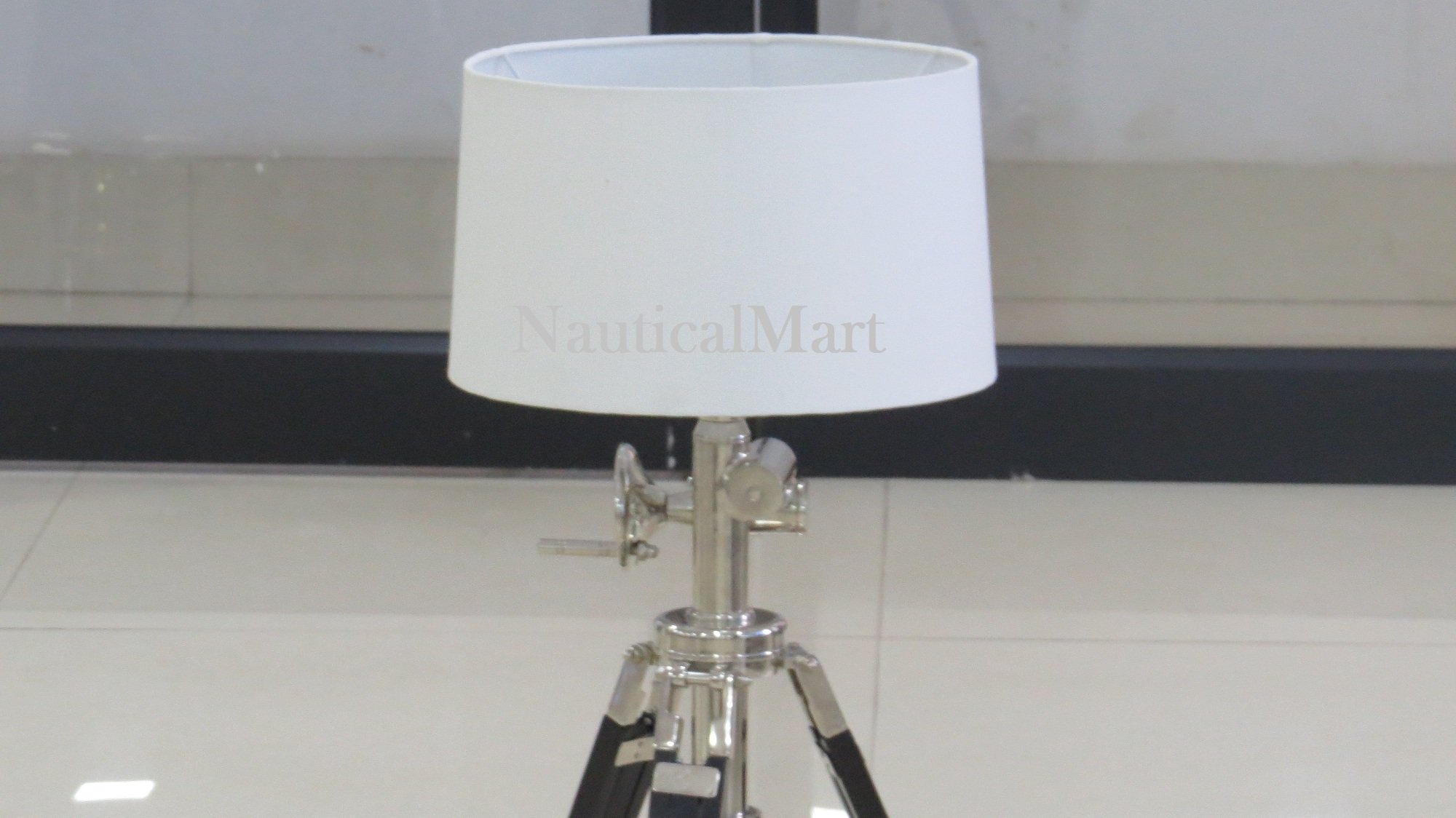 White Cotton Straight Drum Lamp Shade For Royal Lamp By Nauticalmart by NAUTICALMART (Image #1)