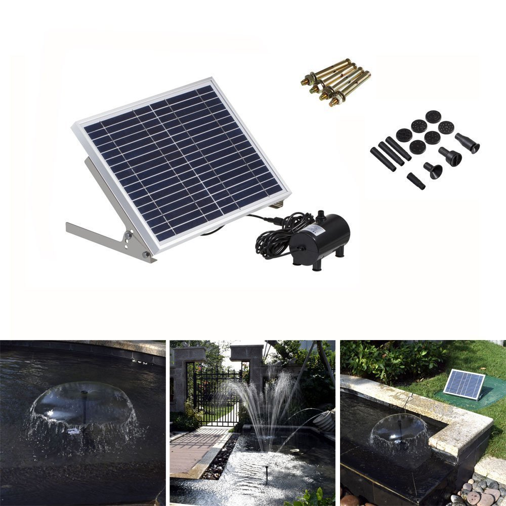 BONDWL High-power Solar Fountain Pump Solar Landscape Fountain 17V 10W Equipment Solar Water Pump Garden Fountains Decorative Fountain