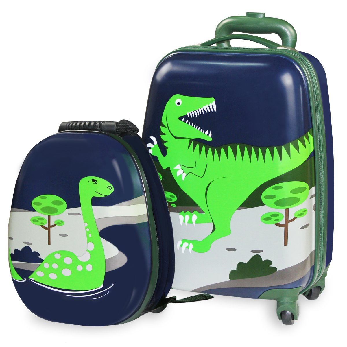 Amazon.com | Durable Luggage Set, Lightweight Suitcase Backpack(Dinosaur) | Luggage Sets