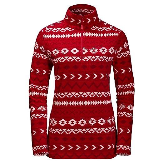 8b66495fb7 Jack Wolfskin Women's Mattawa Sweater, Scarlet All Over, X-Small