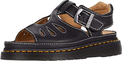 Dr.Martens Castillo Grizzly Leather Casual Buckle Slingbacks Womens Sandals