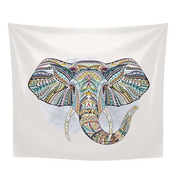 Elefanten Art Gedruckt Tapisserie, Indische Mandala Hippie Boho Stil ...