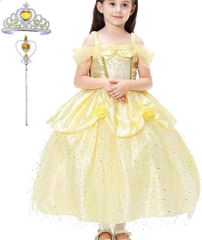 CosPrincely Princesa Disfraz Traje Niña Vestido para Carnaval ...