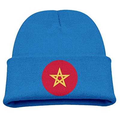 OQHO12 Morocco Kids Hat Warm Soft Fashion Cute Knitted Cap for Autumn Winter