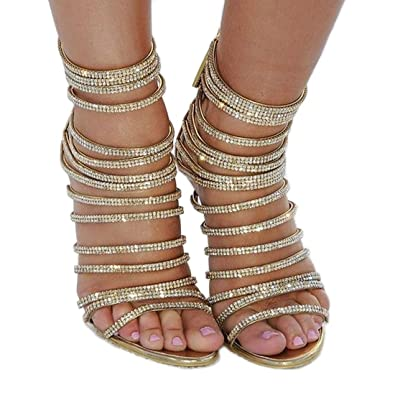 Hinyyrin Women s Gold Summer High Heel Sandals Casual Shoes Sandals  Platform Heel Sandals Party Shoes Women 27d9604fe31a