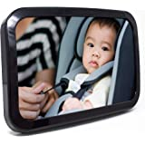 Baby & Mom Back Seat Baby Mirror - Rear View Baby Car Seat Mirror By - Wide Convex Shatterproof Glass And Fully Assembled - Crash Tested And Certified For Safety