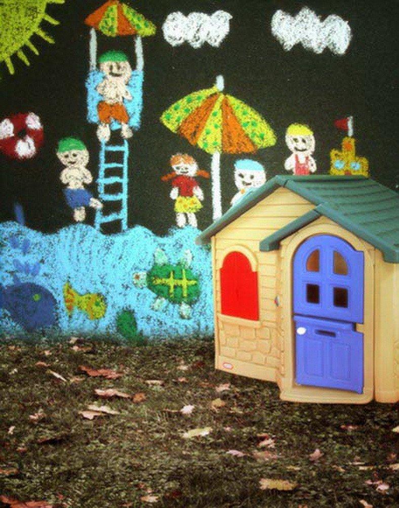 A Monamour Kids Painted上壁グリーンGrass Land for Kids Studio小道具写真の背景幕ビニール生地   B01KTOB4NI