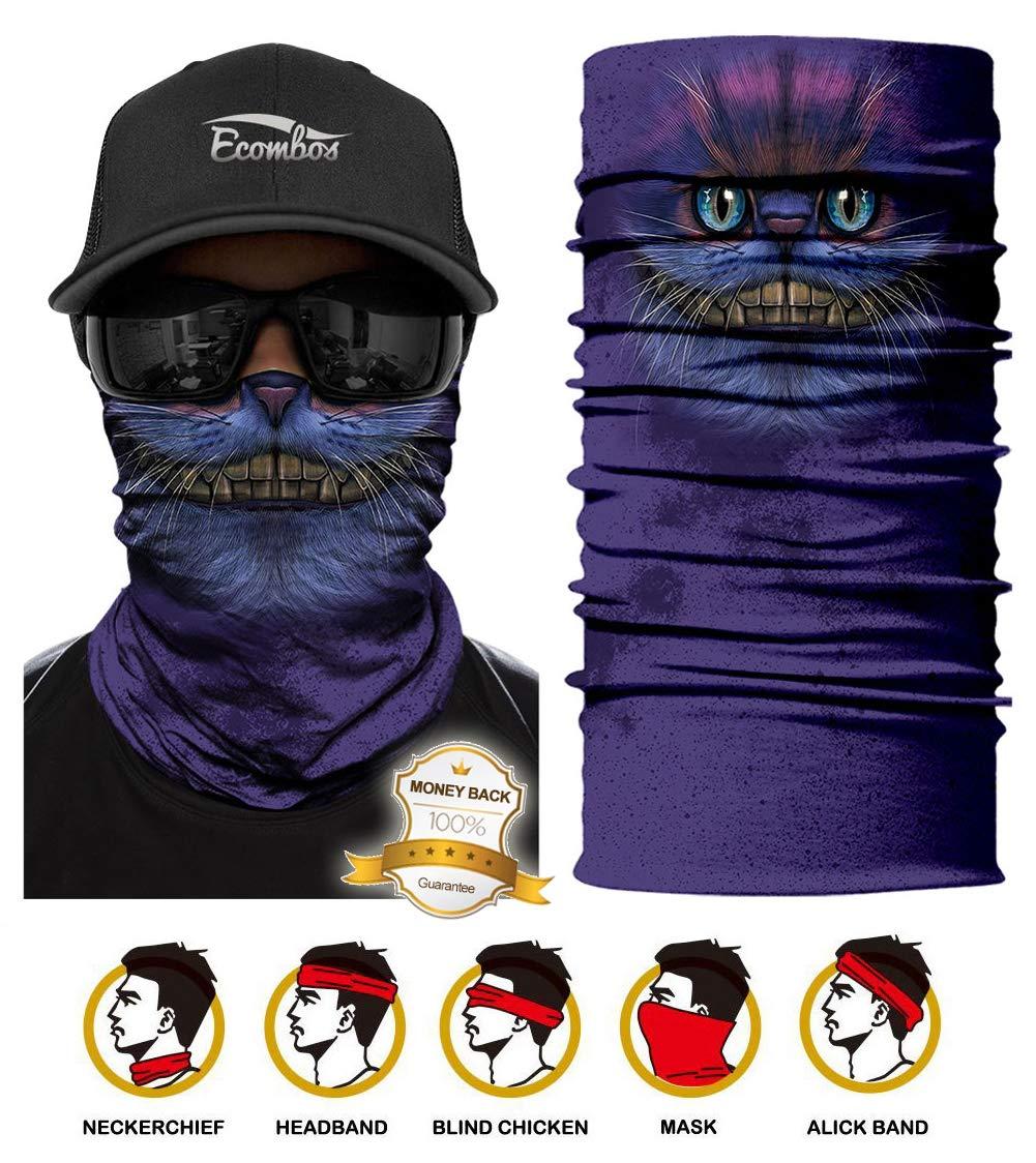 ECOMBOS Multifunktionstuch Gesichtsmaske Bedrucktes nahtlos veränderbaren Schädel Lätzchen Sport Reiten Sonnencreme Maske Schlauchtuch Halstuch Bandana Face Shield Bandana Ski Motorrad Paintball Maske