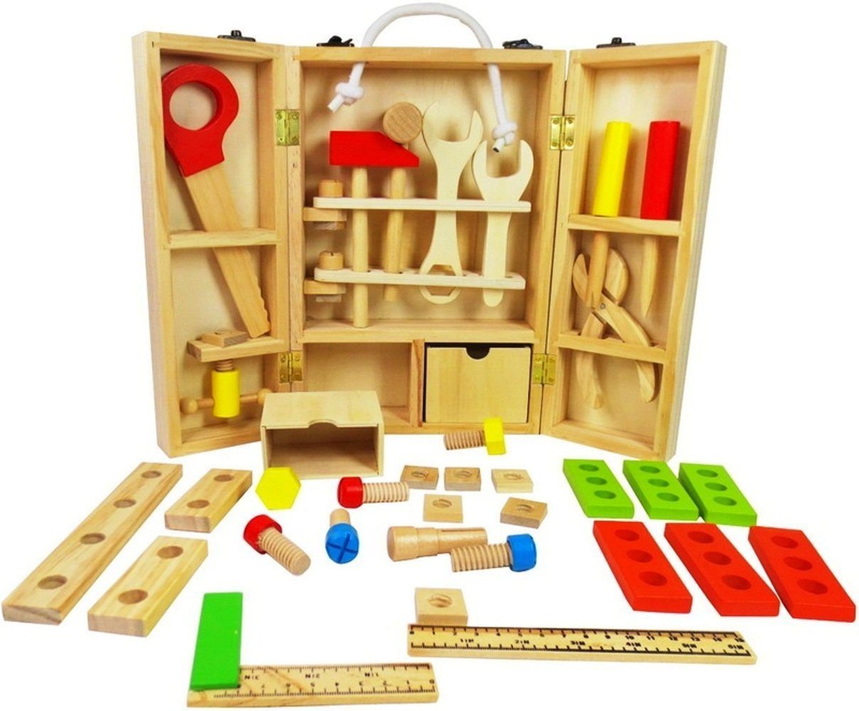 Let/'s Learn Tool Set Nuts Bolts Pretend Carpenter Toy Set Kids Tool Construction
