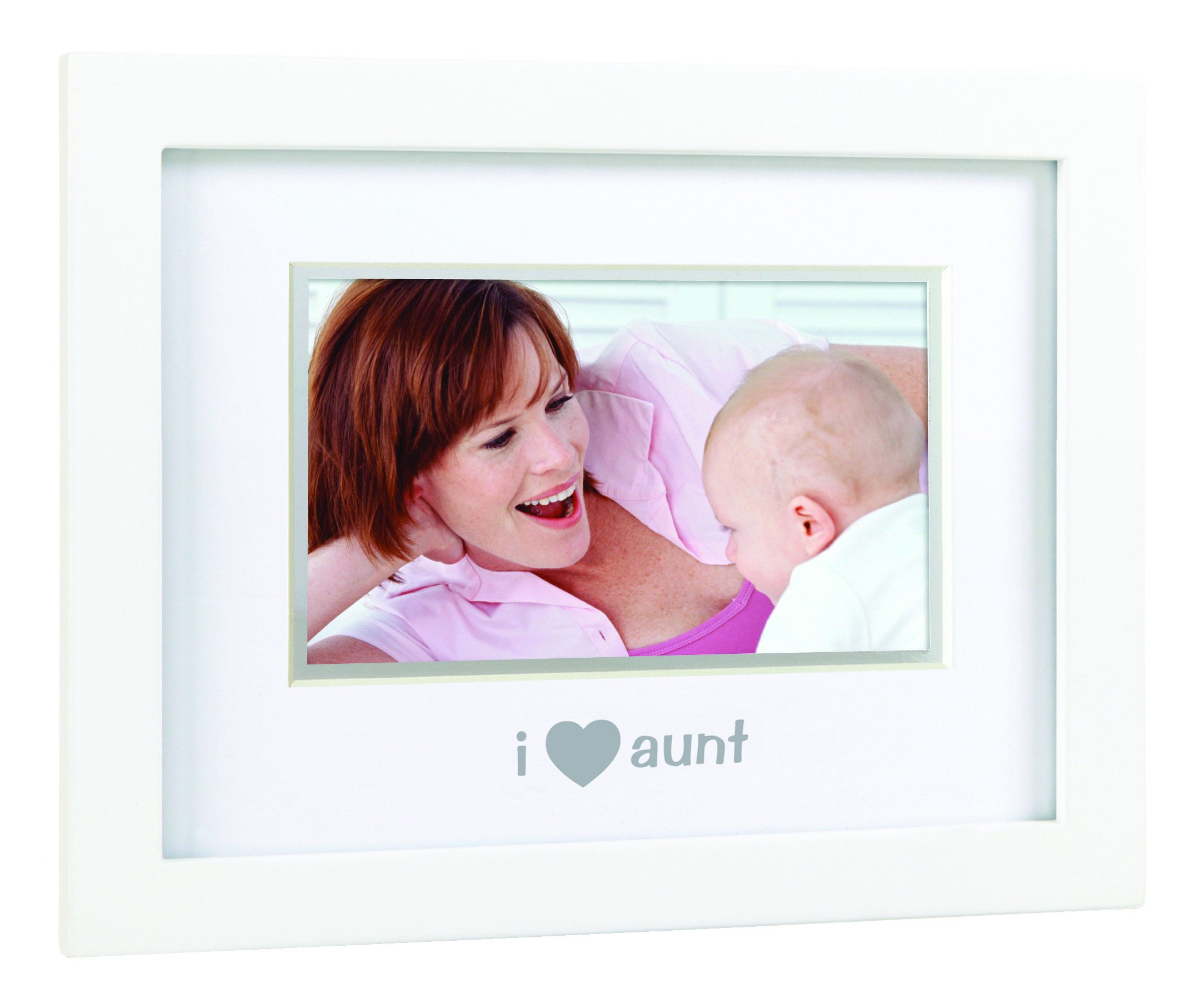 Pearhead Sentiment Frame''I Love My Aunt, I Love My Aunt'', White
