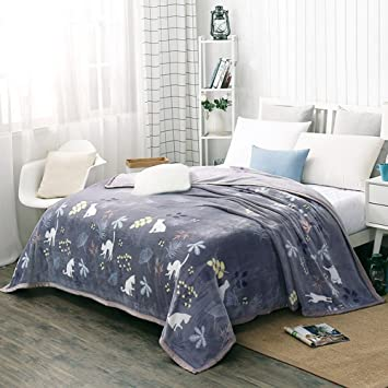 Shinemoon All Season Bedding Accessory Fuzzy Fleece Thermal Blanket