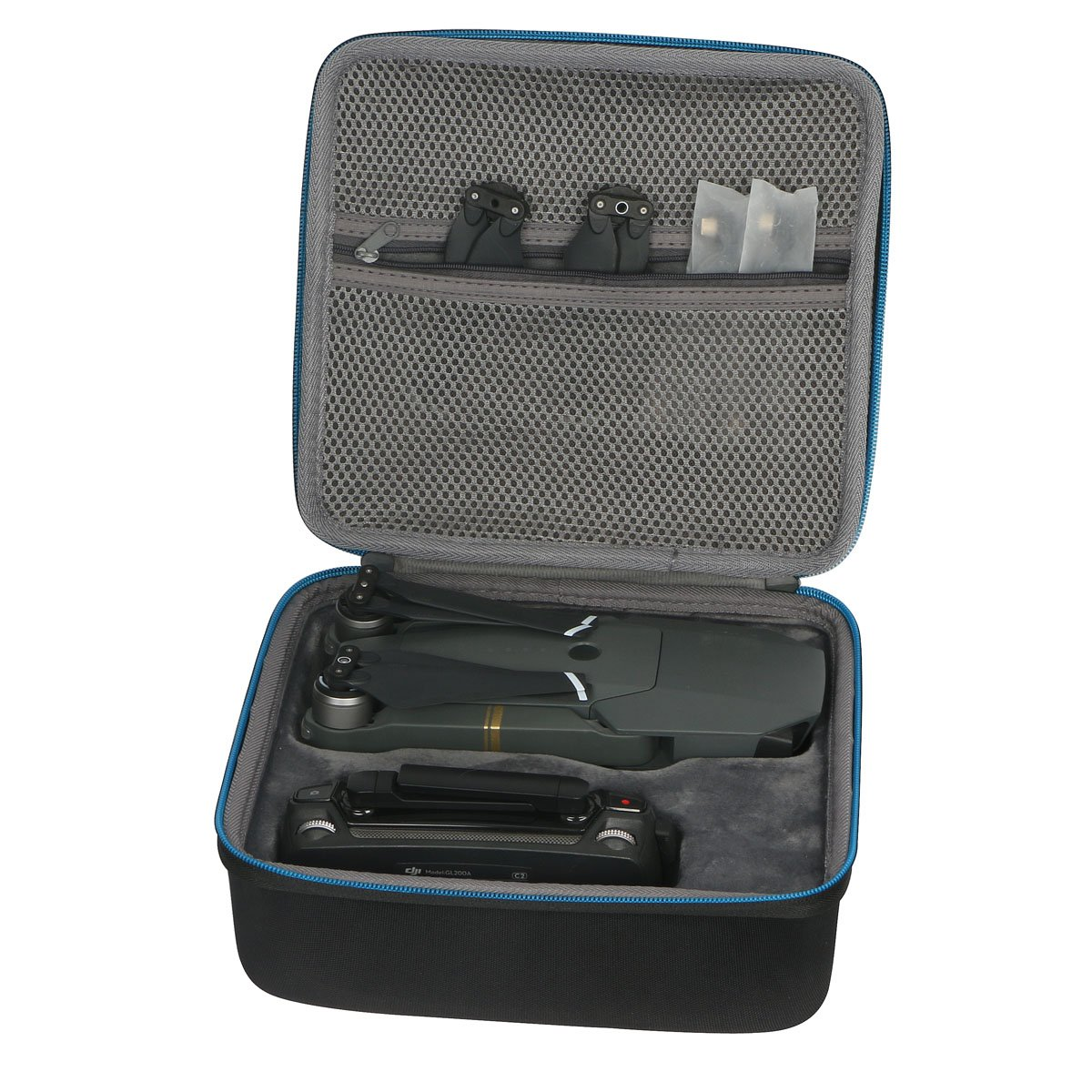 For DJI Mavic Pro Drone, Propellers / Controller Travel Hard Case Portable Bag By Baval