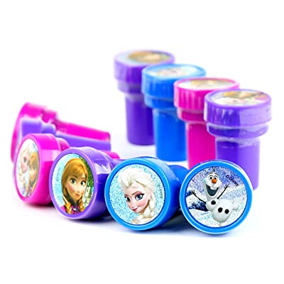 Disney Frozen Self-Inking stamps / Stampers Party Favors (10 Counts): Toys & Games