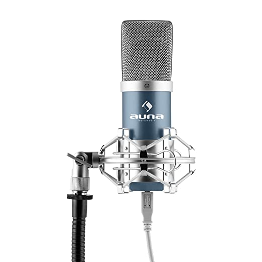 142 opinioni per auna MIC-900 microfono a condensatore (capsula elettrete di 16mm, cavo USB,