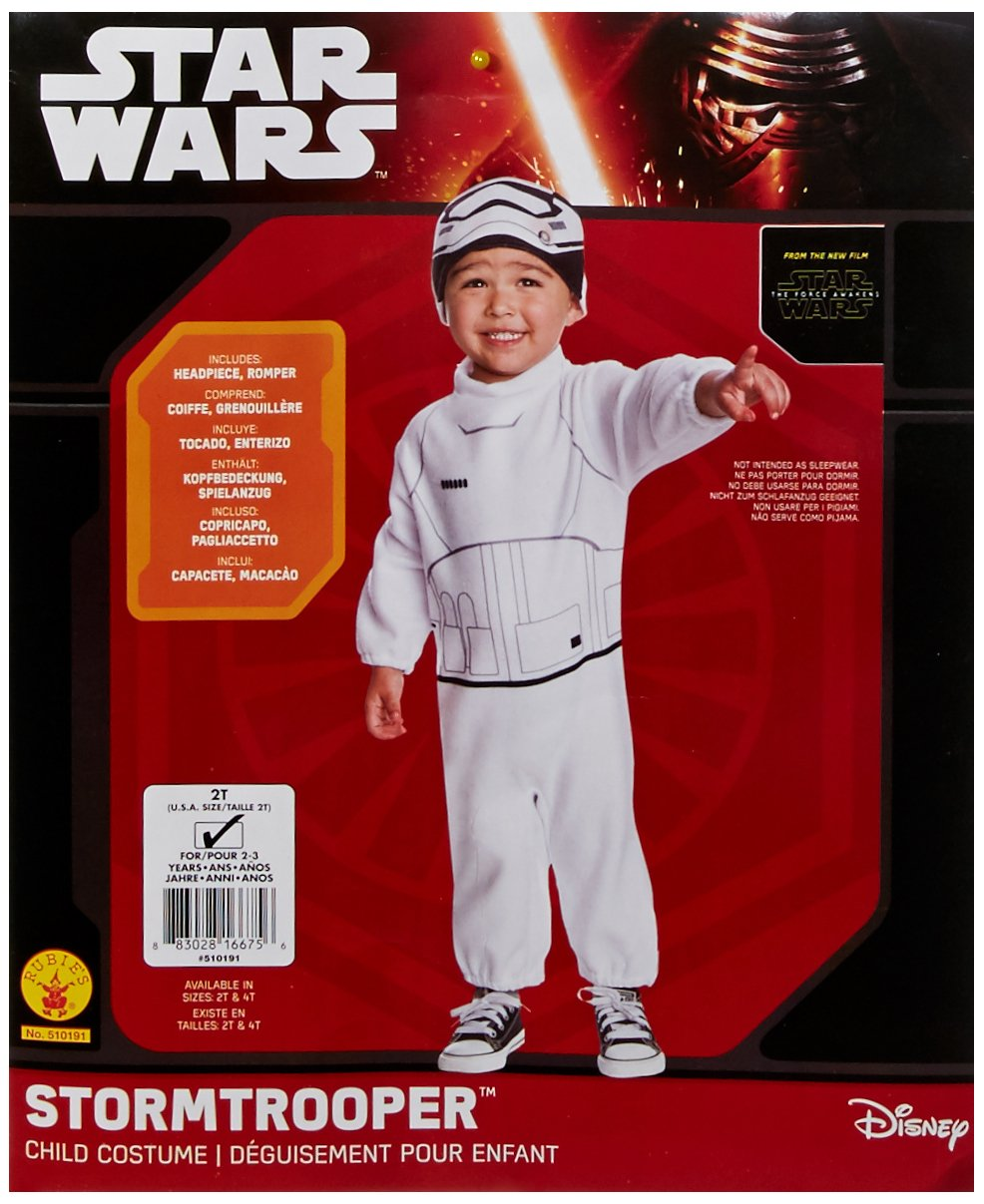 Amazon.com: Rubies Costume Boys Star Wars VII: The Force Awakens Stormtrooper Costume, Multicolor, 2T: Toys & Games
