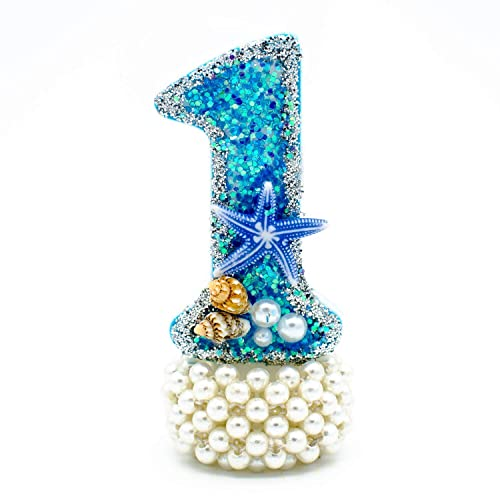 Amazon Mermaid Birthday Candle Under The Sea Silver Glitter