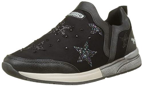 Mustang Slipper, Zapatillas sin Cordones para Mujer, Negro (Schwarz 9), EU: Amazon.es: Zapatos y complementos