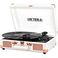 Victrola Vintage 3-Speed Bluetooth Portable Suitcase Record Player with Built-in Speakers | Upgraded Turntable Audio…