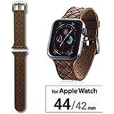 エレコム Apple Watch バンド 44mm/42mm シリコン イントレチャート   ブラウン AW-44BDSCIBR