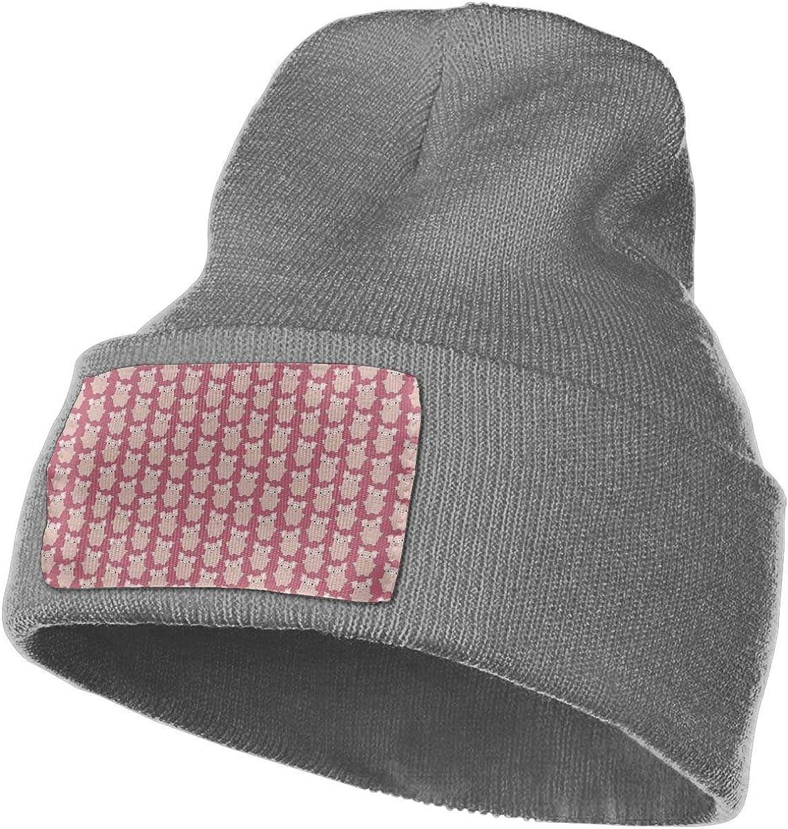 Cute Cartoon Pigs Winter Wool Cap Warm Beanies Knitted Hat