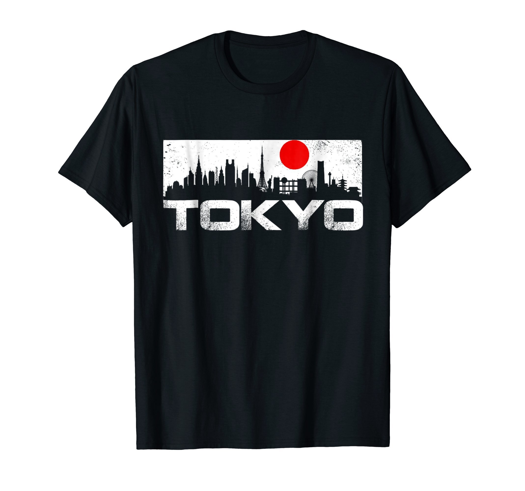 Love Tokyo Japan Skyline Sushi Travel Vacation T-Shirt