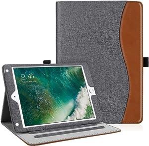 Fintie Case for iPad 9.7 2018 2017 / iPad Air 2 / iPad Air - [Corner Protection] Multi-Angle Viewing Folio Cover w/Pocket, Auto Wake/Sleep for iPad 6th / 5th Gen, iPad Air 1/2, Gray