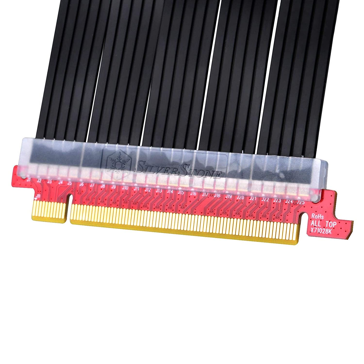 SST-RC04B-400 SilverStone Technology Universal PCI-Express x16 Gen 3.0 Flexible Riser Cable 220mm with EMI Shielding