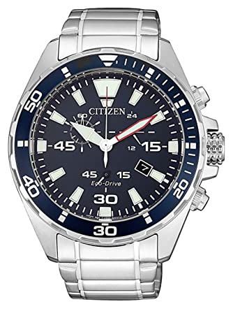 Citizen AT2431-87L Eco Drive - Reloj de Pulsera para Hombre con cronógrafo: Amazon.es: Relojes