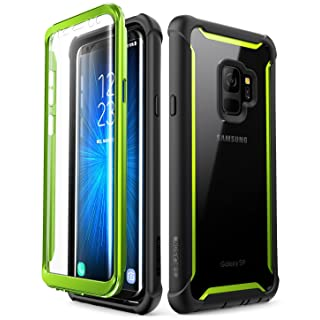 Samsung Galaxy S9 case, i-Blason [Ares] Full-body Rugged Clear Bumper Case with Built-in Screen Protector for Samsung Galaxy S9 2018 Release (Green)