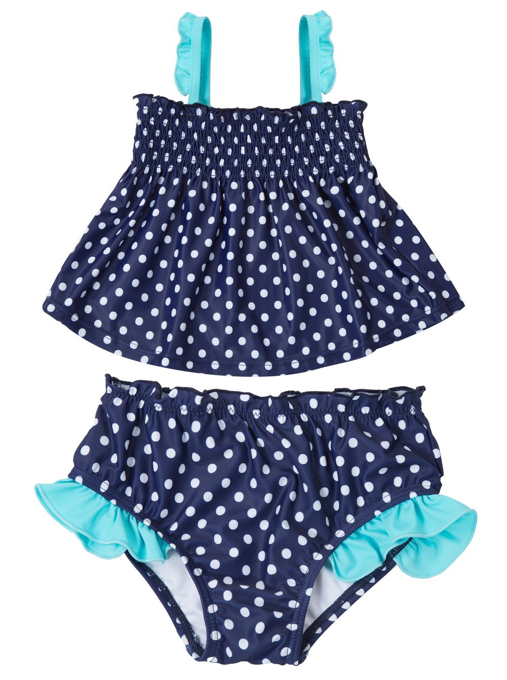 Attraco Baby Schwimmanzug Mädchen Einteiler Baby Badeanzug Polka Dots Badebekleidung Baby 3 Monate Bis 3 Jahre