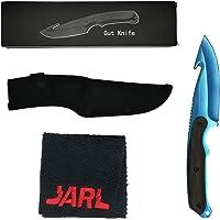 Couteau à eviscérer de collection Premium Gut Knife avec Étui de rangement et Micro Fibre - Réplique CS:GO IRL - Décoration, Utilisation Polyvalente, Cadeau - Pour passionés du jeu ou de couteaux
