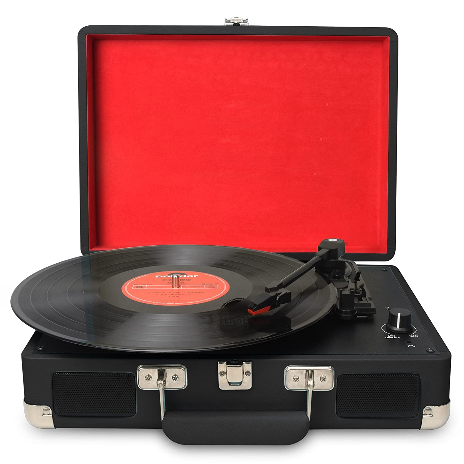 MP3 Supports USB//RCA Output//Headphone Jack DIGITNOW Turntable Record Player 3speeds with Built-in Stereo Speakers Mobile Phones Music Playback,Suitcase design