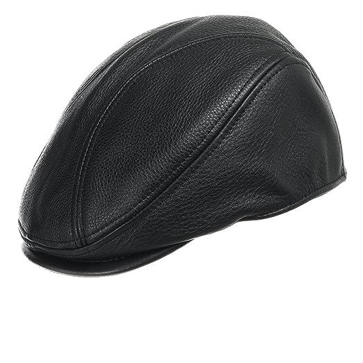 0601b93bc ULTRAFINO Stockton Driving Classic Leather Ivy Flat Caps Hat Newsboy