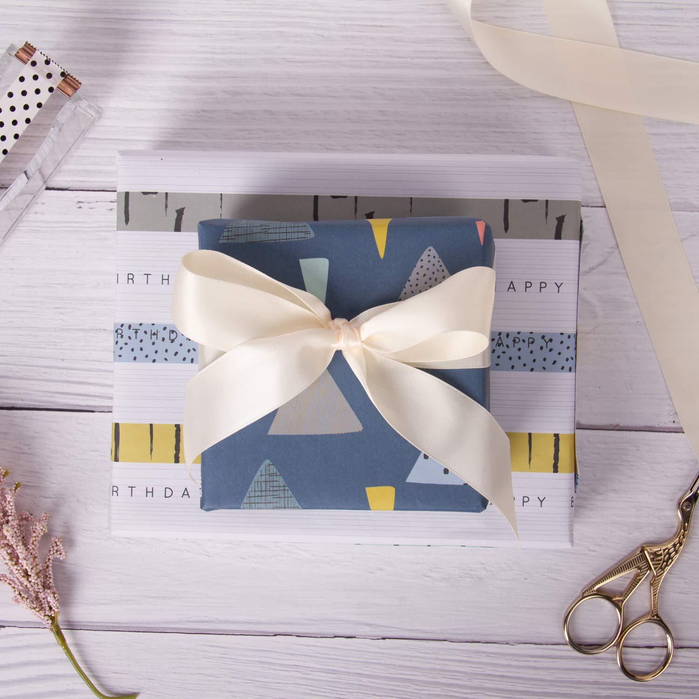 Confezioni Regalo Per Baby Shower 50 X 76 CM RUSPEPA Foglio Di Carta Da Regalo Modello Classico Bianco E Nero Per Compleanno Vacanze 1 Rotolo Contiene 8 Fogli