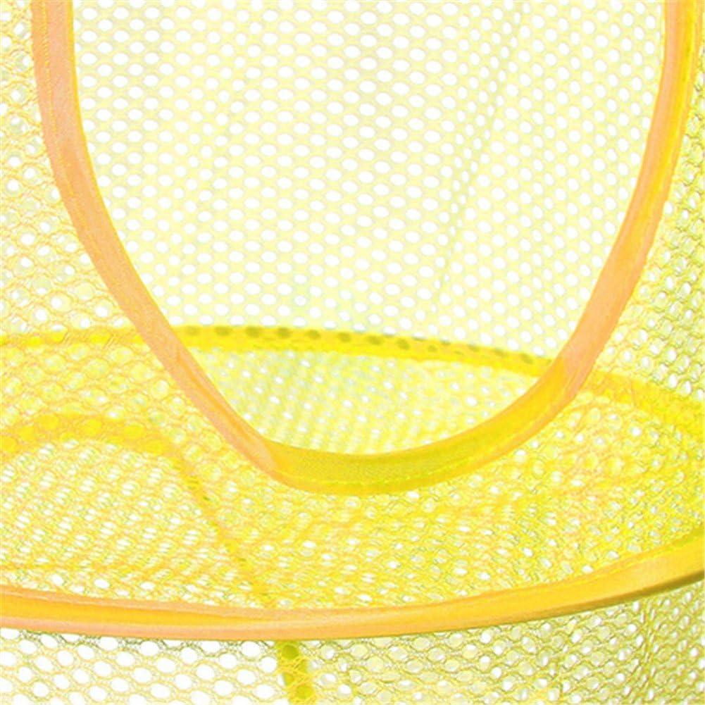 Panier en Maille Filet Pliable Rangement Suspendu-3 Compartiments Trieur Linge Jouets Chaussures