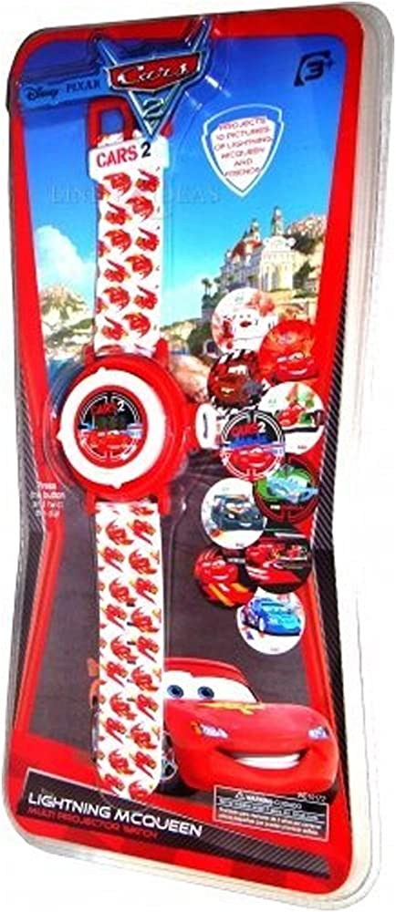 Disney Cars - Reloj de pulsera con proyector (10 imágenes): Amazon ...