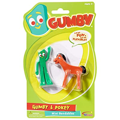 NJ Croce Gumby & Pokey Mini Bendable Pair: Toys & Games